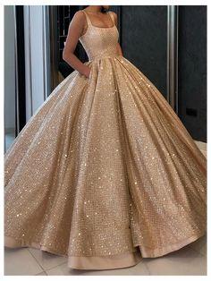 Prom Dresses With Pockets, Pretty Prom Dresses, Sweet 16 Dresses, Cute Dresses, Formal Dresses, Gold Prom Dresses, Elegant Dresses, Short Dresses, Girls Dresses