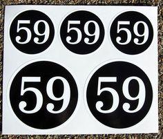 Set Pegatinas Cafe Racer 59 Club Logo es.picclick.com