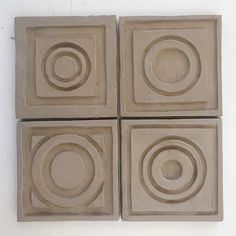 Prototypes for a new project - circles in squares hand carved in high relief #bantamtileworks #handmade #handmadetile #handmadetiles #tile #tiles #patterns #pattern #craft #crafts #madeinaskutt #maker #makers #tileometry #tiletuesday #tileaddiction #tileobsession #madeinCT #fireplace #handcarved #carved #potter #ihavethisthingwithrugs #pottery #ceramic #ceramics #potters #litchfieldcounty #newengland by bantamtileworks