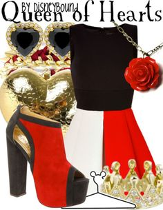 We ar in love with this Queen of Hearts outfit | Disney Fashion | Disney Fashion Outfits | Disney Outfits | Disney Outfits Ideas | Disneybound Outfits | Alice in Wonderland Outfit |