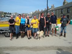 The Cornwall Rowing Association for the Blind (CRAB) crew. Isles of Scilly International Gig Rowing Championships 2014.