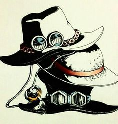 Ace, Sabo, Luffy, brothers, hats; One Piece