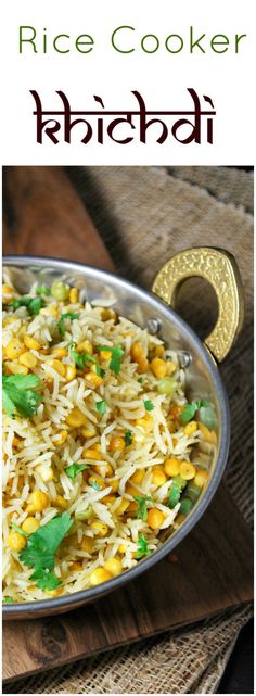 Rice Cooker Channa Dal Khichdi - Perfect for lazy nights, One pot rice with dal leaves no mess and gives you plenty of protein and fiber.