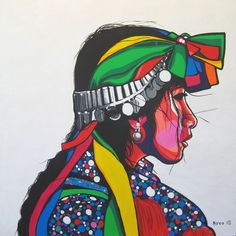 Resultado de imagen para mapuche Hippie Art, Arte Popular, Indigenous Art, Mexican Art, Street Art Graffiti, Art Inspo, Book Art, Native American, Illustration Art