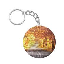 Interchange of Light and Colour Basic Round Button Keychain