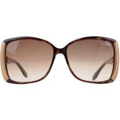ROBERTO CAVALLI Leopard Print Cats Eye Glasses ($370) found on Polyvore