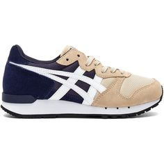 Onitsuka Tiger Alvarado Sneaker ($49) ❤ liked on Polyvore featuring shoes, sneakers, lacing sneakers, laced sneakers, laced shoes, lace up shoes and laced up shoes