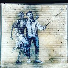 #streetart #selfie #tallinn #estonia #telliskivi #art