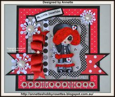 "Bestie card by Annette Stapylton... love the ""fur"" and the outfit looks like velvet... wow!"