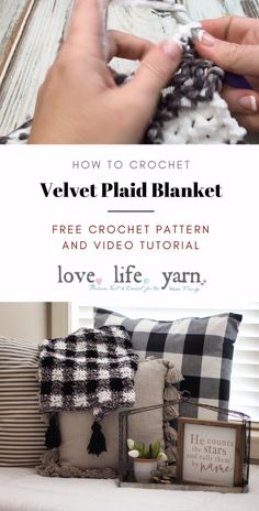 Velvet Plaid Blanket – Free Crochet Pattern You have GOT to make this blanket! It's the softest and squishiest one I've ever made. The free crochet pattern comes in three sizes and has a full video tutorial! Plaid Crochet, Knit Crochet, Blanket Crochet, Crochet Hooks, Crochet Blanket Tutorial, Crochet Keychain, Crotchet, Easy Crochet, Afghan Patterns