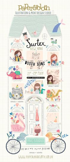 Paper & Cloth  are off to NYC next week to exhibit at Surtex.    Head over to the blog post to see full details here .       (image above c...
