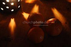 Lichtsterne mit Mandarinen