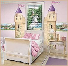 In our next house, I think i'm going to have the girls' uncle paint a cool castle or something on their wall.