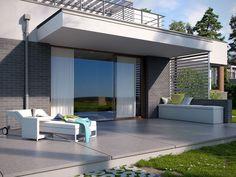 DOM.PL™ - Projekt domu TP Mikado CE - DOM TP1-83 - gotowy koszt budowy Outdoor Furniture, Outdoor Decor, Sun Lounger, Outdoor Living, Inspiration, Design, Home Decor, Houses, Terrace