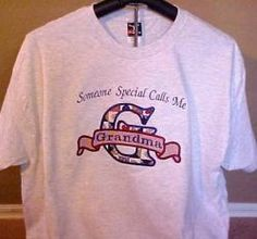 Applique T-Shirt Someone Special Calls Me (any name here) $27.50 4 color shirts and 6 sizes available variety of fabrics to choose from