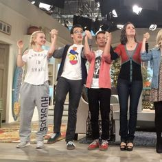 bonnie j wallace: We didn't know it at the time, but this was the last curtain call in front of a live audience. So it's a perfect little bow from the cast to everyone who watched, loved, and was part of this amazing show. Dave Cameron, Cameron Boyce, Series Da Disney, Liv Rooney, Big Bang Theory Quotes, Skai Jackson, Disney Cast, Disney Channel Shows, Cali Style