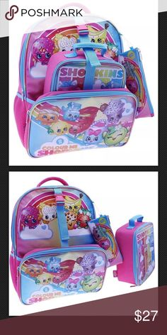293c9a9e06a7 New Shopkins backpack lunchbox set New Shopkins 16 inch backpack has  detachable insulated lunch box and