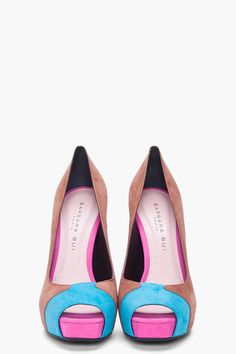 Barbara Bui Suede Colorblock Pumps