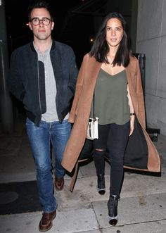 Olivia Munn out for dinner with a male friend at Craig's in Los Angeles on December 9, 2013