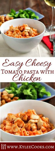 Quick to make, and super tasty - this pantry staples cheesy tomato pasta is yummy and kid-friendly to boot! The whole family will enjoy this one!
