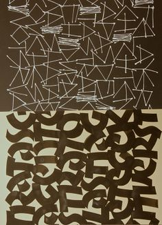 Abstract calligraphy by Patty Hammarstedt