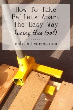 I had no idea this tool would come in so handy when taking pallets apart! It sure beats using a crowbar and hammer! How To Break Pallets Apart The Easy Way Using This Tool ambientwares.com