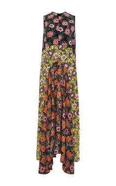 Mixed Floral Printed Maxi Dress by MARNI Now Available on Moda Operandi