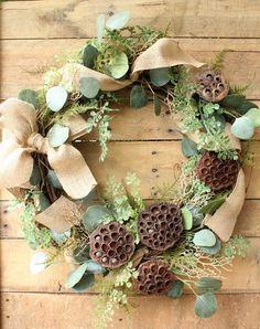 Burlap Wreath ~ Drie
