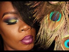 Peacock Makeup Tutorial | Colorful Makeup Collab with Queenii Rozenblad