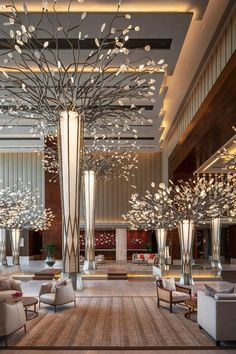 Habbo Hotel, Hotel Lounge, Lounge Decor, Luxury Interior Design, Interior Architecture, Luxury Hotel Design, Hotel Lobby Design, Modern Hotel Lobby, Ceiling Design