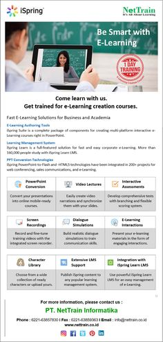 First Business Learning & Academia.  #InfoNetTrain #Elearning #iSpring #BeSmart #VideoLectures #InteractiveAssessment #LMS