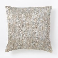 Metallic Pleats Square Pillow Cover - Silver #westelm