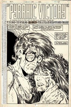 A page from Hulk by Todd McFarlane and Bob Wiacek. Comic Book Artists, Comic Artist, Comic Books Art, Old Comics, Marvel Dc Comics, Colouring Pages, Adult Coloring Pages, Incredible Hulk, Amazing Spider