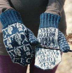 O.W.L. Mittens for Ordinary Wizarding Level Exams | Harry Potter inspired Knitting Patterns, many free knitting patterns | These patterns are not authorized, approved, licensed, or endorsed by J.K. Rowling, her publishers, or Warner Bros. Entertainment, Inc.