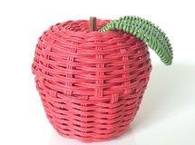 りんごの小物入れ*エコクラフト