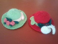 Knitted hat pin cushions