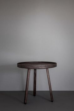 Signe Hytte Uncover Table is a small side table with a removable - and reversible - tray.