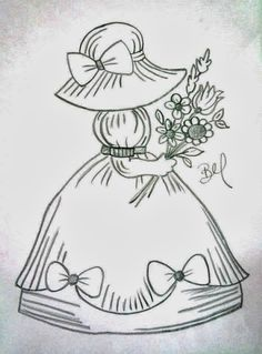 Pintura em tecido ,Pintura em tela, Riscos e desenhos para pintar e artesanatos Vintage Embroidery, Hand Embroidery Patterns, Quilt Patterns Free, Embroidery Stitches, Machine Embroidery, Embroidery Designs, Doll Quilt, Coloring Book Pages, Applique Quilts