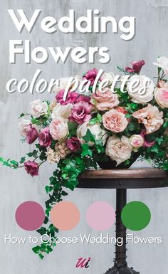 In this Wedding Flowers Guide you will find helpful information on how to choose the right Wedding Flowers Color Palettes. Your wedding floral Colors palette can be inspired by locations, Season, themes and much more, In my article are Tips and Advice for Wedding Flowers color schemes, What flowers to Include, and everything you need to create a floral wedding decorations.