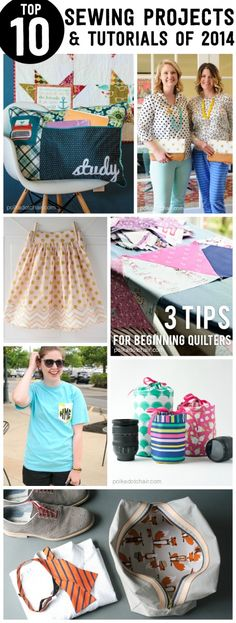 Top 10 Sewing Tutorials & Patterns of 2014 on the polka dot chair sewing blog