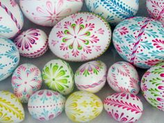 EggstrArt Egg Decorating Kit for Drop-Pull Wax-Embossed Method of Decorating Easter Eggs. $19.95, via Etsy.