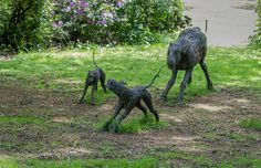 Manus and the Running Dogs by Sophie Ryder- Yorkshire Sculpture Park