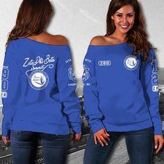 ZETA PHI BETA WOMEN'S OFF SHOULDER SWEATER 2 - Masonstars Beta Beta, Zeta Phi Beta, Off Shoulder Sweater, Pli, Holiday Festival, Custom Made, Graphic Sweatshirt, Stylish, Sweatshirts