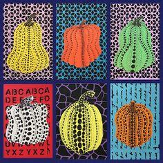 Marker, acrylic, stencils and colored paper. Art Club Projects, Art Projects For Adults, Art Lessons For Kids, Art For Kids, Yayoi Kusama Pumpkin, 2nd Grade Art, Pumpkin Art, Mobile Art, Art Curriculum