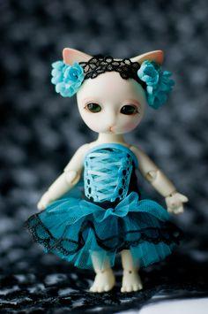 #BJD #doll #Pipos #Ringo #blue #corset #dress #lace #craft #handmade #LenivkaShop #PblCb