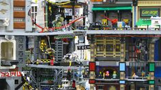 Here's a Crowded Urban Dystopia Built Entirely Out of Legos