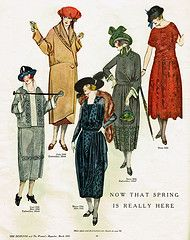 Spring fashion page from the Designer magazine, March 1921