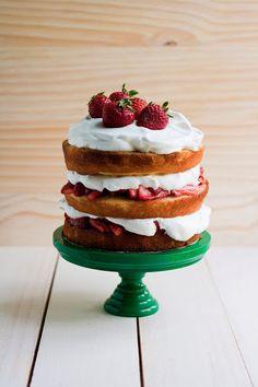 Strawberry Shortcake (or maybe tall cake) via Hummingbird High