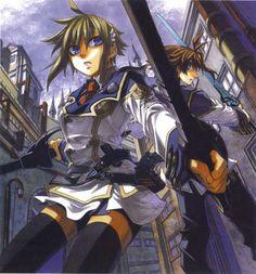 Tags: Anime, Chrome Shelled Regios, Nina Antalk, Leifon Alseif