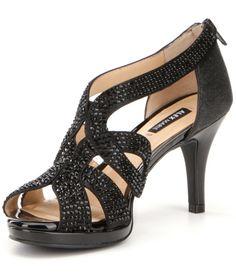 Alex Marie Dayten Rhinestone-Embellished Satin Dress Sandals 8xv9VWar